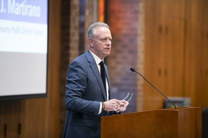 Howard County schools Superintendent Michael Martirano delivers his State of Schools address Thursday, Jan. 16, at The Meeting House in Columbia.
