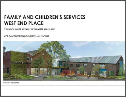 A concept rendering shows a proposed addition to the West End Place facility of Family and Children's Services.