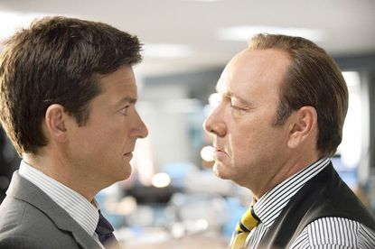 """Jason Bateman as Nick gets an official dressing-0down from Dave (Kevin Spacey) in the new comedy """"Horrible Bosses,"""" now playing at area theaters."""