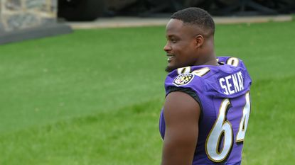Despite lengthy layoff, rookie Greg Senat tapped as Ravens backup left tackle