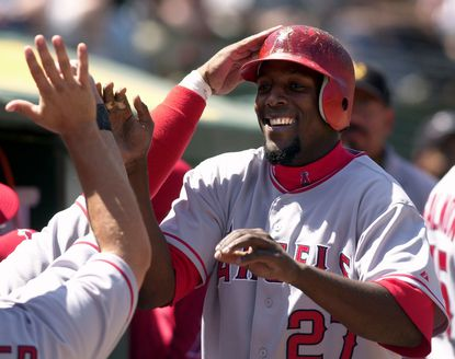 Vladimir Guerrero played six seasons for the Angels and was selected the American League MVP in 2004.