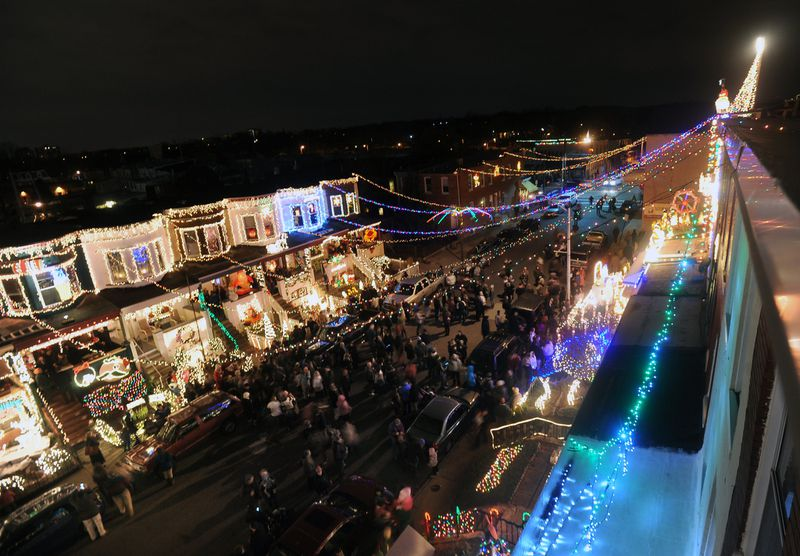 Hampden's famous 34th Street holiday lights displays kick off this weekend.