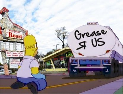 Homer Simpson was a grease thief, too.