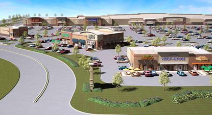 Shown is a rendering of the new Eldersburg Commons retail plaza planned for Carroll County.