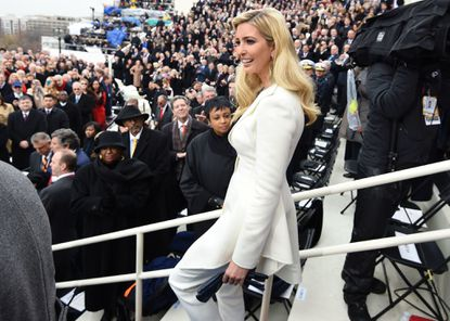 Ivanka Trump arrives for the inauguration of her father, Donald Trump, on Jan. 20, 2017.