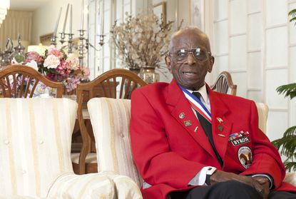 In 2012, Dr. Cyril Byron Sr. was named a co-grand marshal for the Towson Fourth of July Parade recognizing his service as a Tuskegee Airman during World War II.