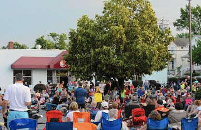 A large crowd gathers in 2015 during a Frederick Road Fridays concert. The popular music event was moved online this year due to the coronavirus pandemic.