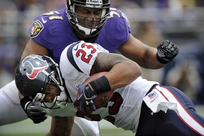 Ravens' run-stopping streak will be tested by Texans' Arian Foster