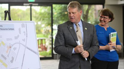 Howard County Executive Allan Kittleman and Cheri Auger led a tour last year of a nonprofit center in Columbia that houses multiple human service organizations. Now four agencies are getting ready to move into an adjacent community resources campus.