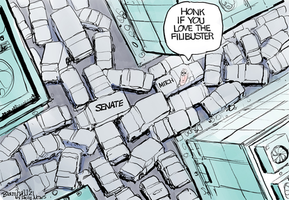 Honk if you love the filibuster. (Bill Bramhall/Tribune Content Agency).