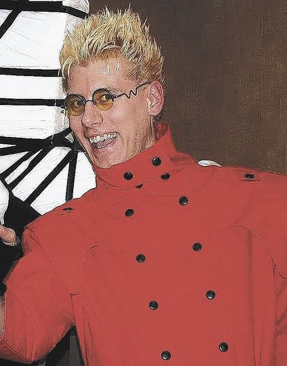 """John Gluth, the vice convention chair for Otakon, dressed as Vash the Stampede from manga series """"Trigun."""""""