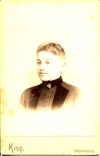 A photo of Aunt Rose, a distance relative of the authors, who wrote to two family members during the Spanish flu pandemic expressing sorrow for the loss of their child. (photo courtesy of Joyce Harrington)