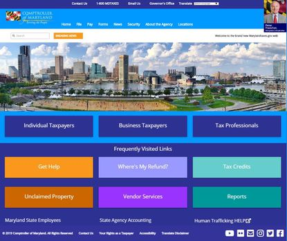 The Comptroller of Maryland is unveiling a redesign of its website on Dec. 16. Comptroller Peter Franchot is concerned that the redesign is so dramatic that some of the site's users may worry it is fake.