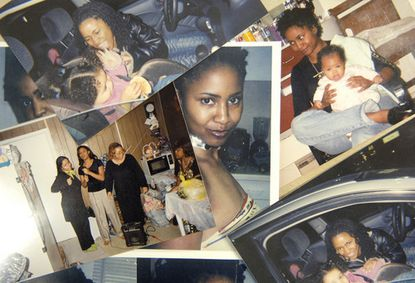 A collection of family snapshots of Veronica Williams, who was stabbed to death after seeking a protective order against her husband.