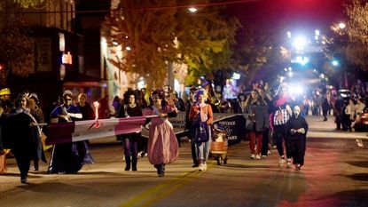 The Halloween parade makes its way down Main Street in Westminster Saturday, Oct. 24.