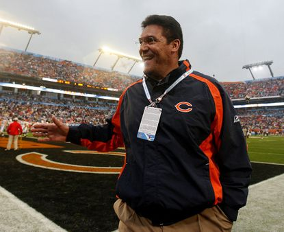Bears defensive coordinator Ron Rivera before the start of Super Bowl XLI in Miami.