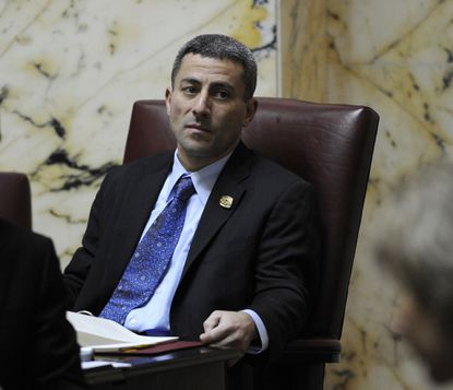 Sen. Bobby Zirkin, pictured in a 2013 photo, sponsored a bill to put some of the country's toughest liability standards on natural gas drillers. The Senate gave preliminary approval to the bill Friday.
