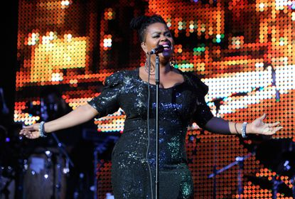 Jill Scott performs at the Lyric on Tuesday.