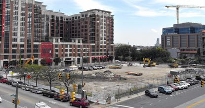 This is the building site of the new Whole Foods Market in Harbor East at 711 S. Central Avenue.
