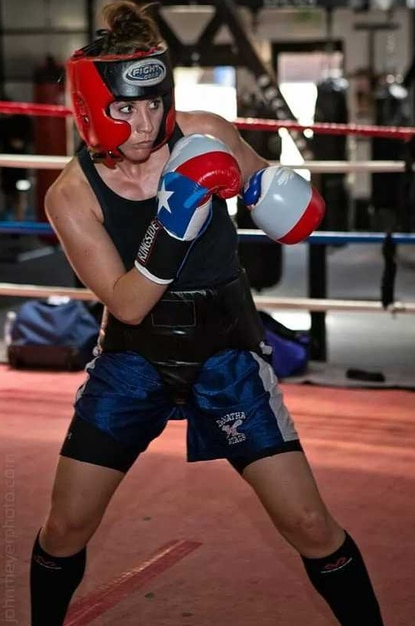 Amelia Moore trains at Club One Fitness in Millersville, in preparation for the 2014 Womens National Golden Gloves July 7-12.