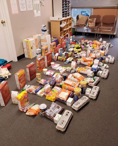The Annapolis Moms Facebook Group collected donations for families who are struggling due to coronavirus-related closures. In one day they collected enough food to feed 30 families for two days.