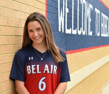 Bel Air High School senior Madisyn Wallace plans to attend Towson University in the fall. Wallace was a member of the Bel Air girls soccer team.