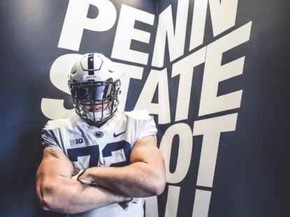 Good Counsel offensive tackle Landon Tengwall, a Pasadena resident, committed to Penn State football.