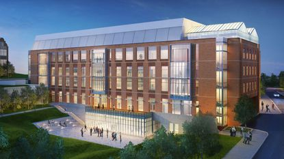 Rendering of the new Towson University Science Complex, being constructed on York Road. A formal groundbreaking event is scheduled for Tuesday, April 17.