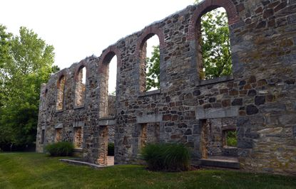 The ruins of St. Charles College have been preserved at St. Charles Place and Terra Maria Way in the Terra Maria neighborhood of Ellicott City.