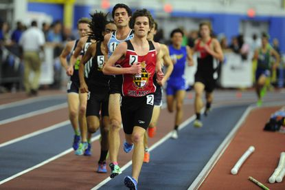 Dulaney's Eric Walz (2) was named Gatorade Maryland Boys Cross Country Runner of the Year.