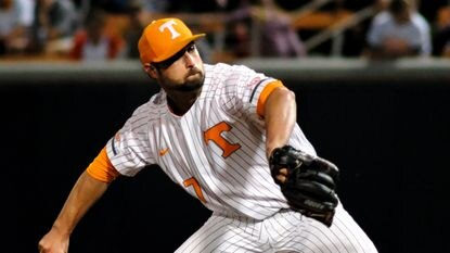 Garrett Stallings, who pitched college baseball for Tennessee, threw five innings of no-hit baseball Tuesday night in the Aberdeen IronBirds 4-0 win at Hudson Valley. (AP Photo/Shawn Millsaps)