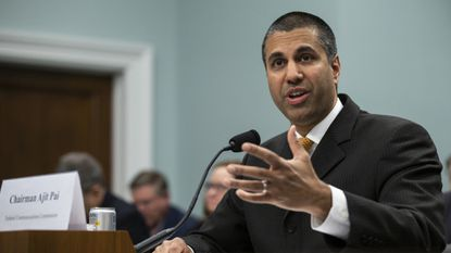 WASHINGTON, DC -- FCC Chairman Ajit Pai testifies before the House Appropriations Committee during a budget hearing Thursday.