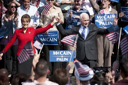 Julianne Moore and Ed Harris as Sarah Palin and John McCain in HBO's 'Game Change.'