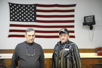 Post commander William Baker, left, and Lawernce Entler, 1st Vice Commander, at the American Legion Parkton Post 256 on Monday, Dec. 19.
