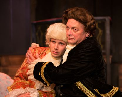 """Rick Lyon-Vaiden, left, and Jeff Murray perform in a Fells Point Corner Theatre production of """"Amadeus"""" in 2014."""