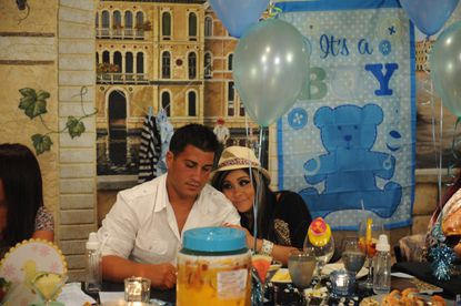 Snooki and Jionni at the baby shower.