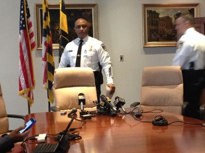 Police Commissioner Anthony Batts talks to reporters, which is a big deal