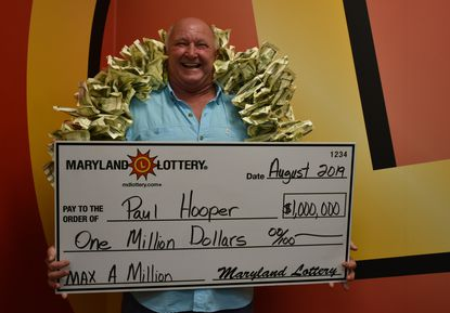 Paul Hooper Jr., of Gettysburg, Pa., won $1 million on a Maryland Lottery scratch-off ticket he purchased on the Liquor Barn in Taneytown. - Original Credit: Courtesy Photo