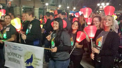 Harford County's Moonlit Mission Team for the 2014 LLS Light the Night Walk leaves Camden Yards. The Leukemia & Lymphoma Society's 2015 Light the Night Walk is coming up on Nov. 14.