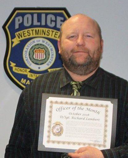 Lambert honored by police department