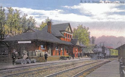 Photo courtesy of Don Warner. The train station in Sykesville is pictured in the early 1900s.