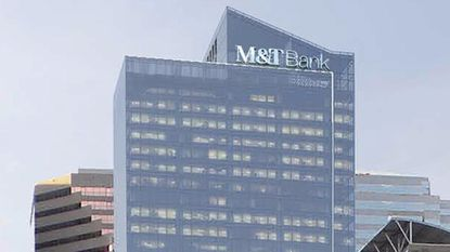 Rendering of One Light Tower with M&T Bank logo.
