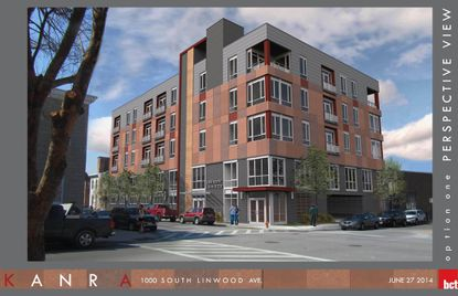 Taylor Property Group wants to build a $7.5 million five-story apartment and office building near Canton Square. The architect is Baltimore-based Brown Craig Turner.