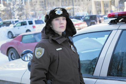 "Carrie Coon plays Gloria Burgle, chief of police, in the third season of ""Fargo."""