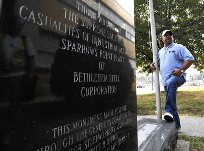 Monument to Sparrows Point's casualties lives on at new home
