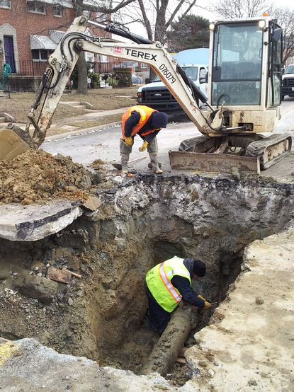 Amid record number of water main breaks, Baltimore residents await fixes