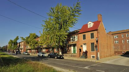 The Poe Homes public housing project in Poppleton was built around Edgar Allan Poe's West Baltimore home on Amity Street.