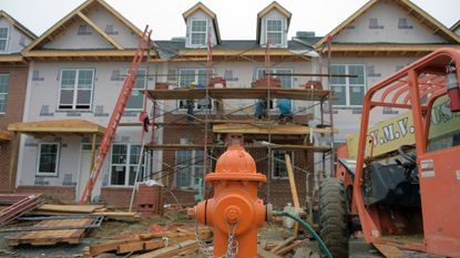 A townhouse development under construction in the Woodlawn area in this file photo from 2018. Beginning next year, developers will start paying a fee on many new Baltimore County construction projects.