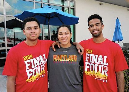 Jarred Jones, right, is pictured with his sister,Brionna, and his brother Jordon.
