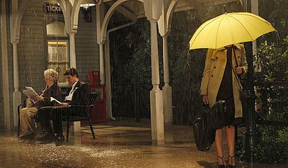 """The mysterious mother behind her yellow umbrella in an earlier episode of """"How I Met Your Mother."""""""